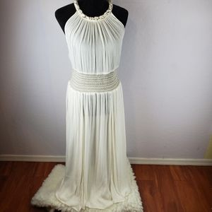 FREE PEOPLE URBAN OUTFITTERS Cream Dress Size S